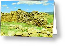 An Old Wall At The Pecos Ruins Greeting Card