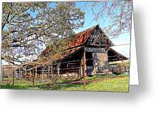 An Old Weathered Barn Greeting Card