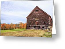 An Old Wooden Barn In Vermont. Greeting Card