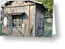 An Old Wooden Shack Greeting Card