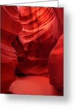 An Orange Chamber Antelope Canyon Greeting Card