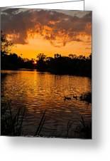 An Orange Pond. Greeting Card