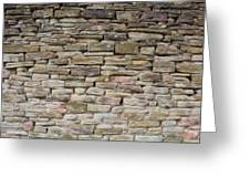 An Uneven Rock/stone/brick Wall Greeting Card