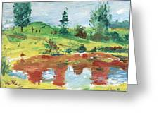 An Upland Meadow Greeting Card
