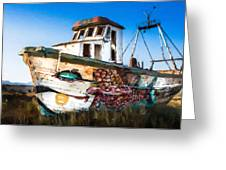 An Wooden Old Ship 2 Greeting Card