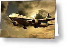 Ana Boeing 773 Ja784a Greeting Card