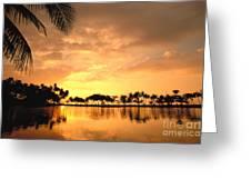 Anaehoomalu Bay Sunset Greeting Card
