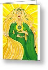 Anahata Heart Chakra Goddess Greeting Card