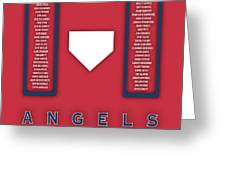 Anaheim Angels Art - Mlb Baseball Wall Print Greeting Card