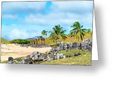 Anakena At Easter Island Greeting Card