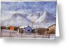 Anaktuvuk - Eskimo Village Greeting Card