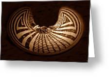 Anasazi Butterfly Pot Greeting Card