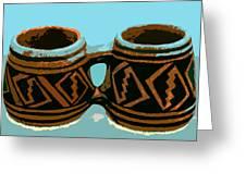 Anasazi Double Mug Greeting Card