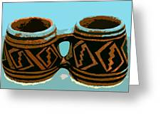 Anasazi Double Mug Greeting Card