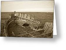 Anatomy Of An Old Boat Greeting Card