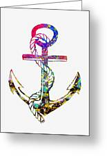 Anchor-colorful Greeting Card