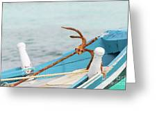 Anchor On A Boat In Maldives Greeting Card