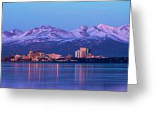 Anchorage Lights Greeting Card