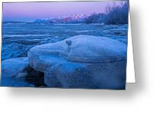 Anchorage Icebergs Greeting Card