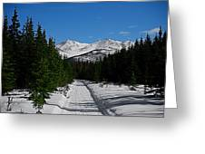 Anchorage Mountains Greeting Card