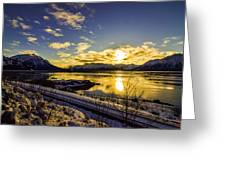 Anchorage Sunrise Greeting Card