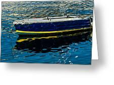 Anchored Boat Greeting Card