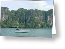 Anchored In Paradise Greeting Card