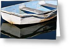 Anchored In The Harbor Greeting Card