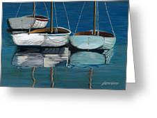 Anchored Reflections I Greeting Card by Sharon Kearns