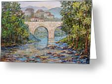 Ancient Bridge Greeting Card