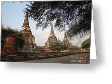 Ancient Buddhist Stupas Greeting Card
