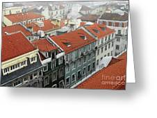 Ancient Buildings At Lisbon. Portugal Greeting Card