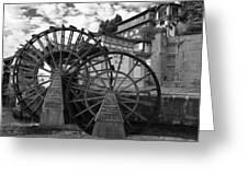 Ancient Chinese Waterwheels Greeting Card