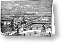 Ancient Corinth, C1894 - To License For Professional Use Visit Granger.com Greeting Card