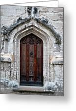 Ancient Door Greeting Card by Douglas Barnett