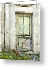 Ancient Doorway Rome Italy Pencil Greeting Card