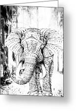 Ancient Elephant Greeting Card