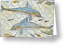 Ancient Greek Dolphins Greeting Card