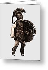 Ancient Greek Hoplite Greeting Card
