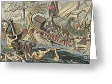 Ancient Greek Sea Battle Greeting Card