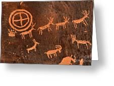 Ancient Indian Petroglyphs Greeting Card