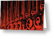 Ancient Macedonian Phalanx Greeting Card