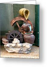 Model Of Ancient Water Mill In Greece  Greeting Card