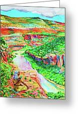 Ancient One Views River Greeting Card