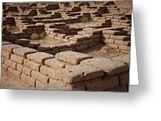Ancient Pueblo Adobe Walls Greeting Card