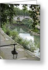 Ancient Roman Foot Bridge Greeting Card