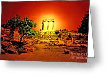Ancient Ruins Greeting Card