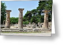 Ancient Ruins Wide Columns Greeting Card