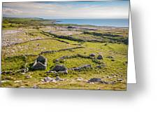 Ancient Settlement In The Burren Greeting Card