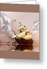 Ancient Ships Greeting Card